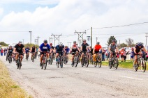 The cyclists set off for their 25km cycle challenge as part of the Grahamstown Games