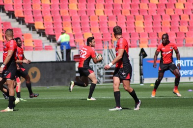 The Southern Kings warm up ahead of their Pro14 clash against Ulster on Sunday 16 September, 2018.