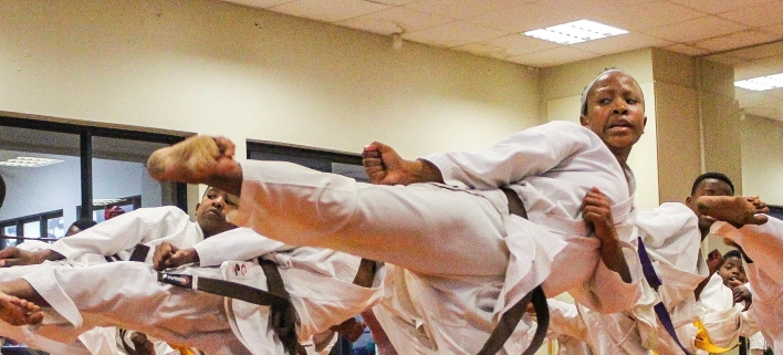 Joza Karate Club's Nolusindisu Yakeni embodies what discipline and hard work can achieve, with great form and technique.
