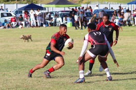 The Six SAI Leopards attacking against Tyantyi Rangers at the Fabian Juries Community Fun Day. Photo: Stephen Kisbey-Green