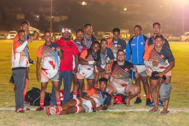 The players from the Ghost Town Lions celebrate their second place finish at the Fabian Juries Community Fun Day. Photo: Stephen Kisbey-Green
