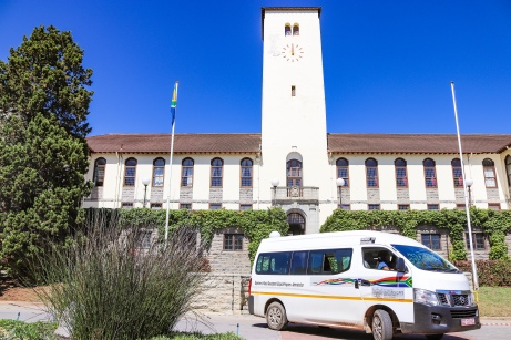 The Department of Social Development came to Rhodes University on Friday 8 February to spread awareness on social issues such as drug abuse and gender based violence. Photo: Stephen Kisbey-Green