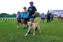 it was not only humans that took to the 8km route, with four-legged friends also taking on the Makana Brick Nite Race Challenge. Photo: Stephen Kisbey-Green