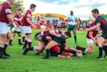 Kingswood look to recycle possession against Kearsney. Photo: Stephen Kisbey-Green