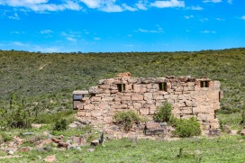 One of the the old walls of Fort Double Drift inside the Great Fish River Nature Reserve. Photo: Stephen Kisbey-Green
