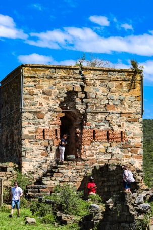 The Double Drift Fort inside the Great Fish River Nature Reserve has stood since the 1830's, with this signal tower being the most prominent of the remains. Photo Stephen Kisbey-Green