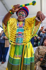 There was plenty of colourful outfits on display at the Miki Yili Stadium during the 2019 Freedom Day Celebrations. Photo: Stephen Kisbey-Green