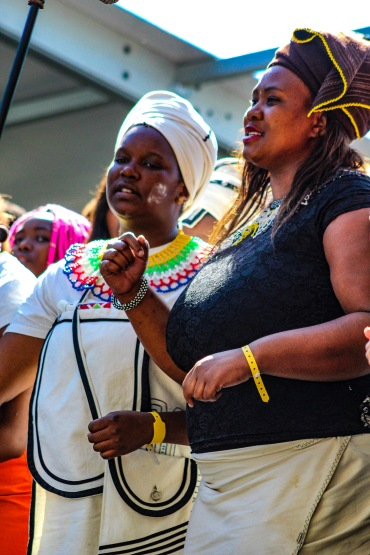 The Kwantu Choir, which is based in Makhanda, sang a multitude of songs for President Ramaphosa and the gathered supporters throughout the celebrations at Miki Yili. Photo: Stephen Kisbey-Green
