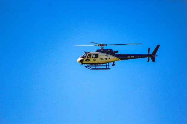 The police were out watching over Makhanda as the president made his way to Miki Yili stadium for the 2019 Freedom Day Celebrations. Photo: Stephen Kisbey-Green