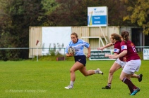 Leah Reilly clamps on the pace as she tries to attempt to get around the Tullow defence. Photo: Stephen Kisbey-Green