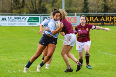 Eimear Corri carries the ball into contact. Photo: Stephen Kisbey-Green