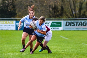 Zoe Valentine unable to through the Tullow defence. Photo: Stephen Kisbey-Green