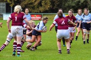 Zoe Valentine breaks through the Tullow defence. Photo: Stephen Kisbey-Green