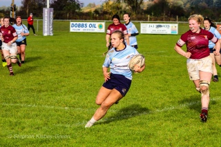 Leah Reilly takes off on a seething run, looking to step outside the defence. Photo: Stephen Kisbey-Green