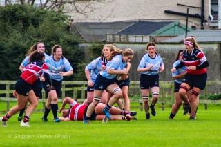 Nikki Gibson bursts through the Wicklow defense. Photo: Stephen Kisbey-Green