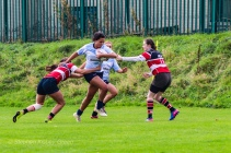 Eimear Corri powers through the Wicklow defense. Photom Stephen Kisbey-Green