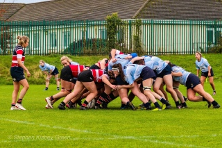 DCU and Wicklow RFC locked horns in a highly competitive match on a cold Sunday afternoon at DCU's sports campus. Photo: Stephen Kisbey-Green