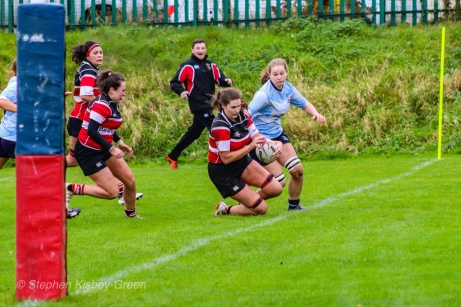 Wicklow powering over the line for the match-winning try. Photo: Stephen Kisbey-Green