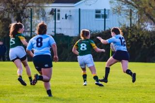 Hannah Heskin bursting through a gap in the Railway defense. Photo: Stephen Kisbey-Green