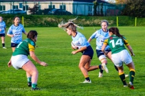 Aine McGroarty cuts in off her wing with Leah Reilly in support. Photo: Stephen Kisbey-Green