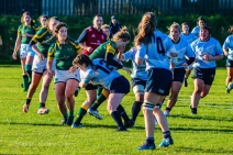 Hannah Heskin was massive in both attack and defense against Railway RFC, making big tackles and breaking them throughout the game. Photo: Stephen Kisbey-Green