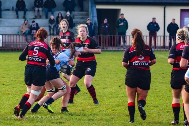 Sophie Kilburn crashes the ball up against Tullamore. Photo: Stephen Kisbey-Green