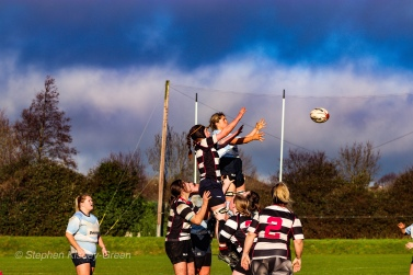 Old Belvedere RFC and DCU compete at the lineout. Photo: Stephen Kisbey-Green