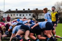 Both DCU and Tullow fought hard in the scrums on Sunday, with neither team able to gain ascendency in the scrums. Photo: Stephen Kisbey-Green