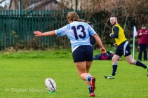 Leah Reilly converged three of her side's six tries against Tullow RFC. Photo: Stephen Kisbey-Green