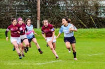 Kirara Kasahara was full of running from fullback against Tullow RFC. Photo: Stephen Kisbey-Green