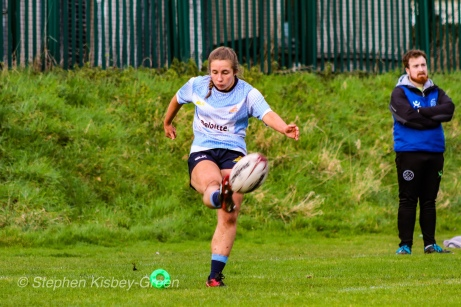 Leah Reilly converted three of her side's six tries against Tullow RFC. Photo: Stephen Kisbey-Green