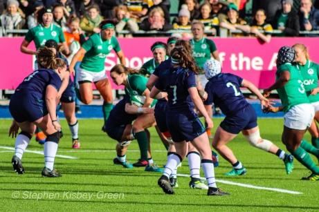 Ireland looking to break through the Scottish defense. Photo: Stephen Kisbey-Green