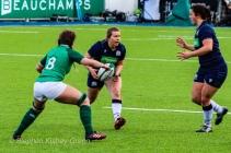 Scotland on the attack against Ireland. Photo: Stephen Kisbey-Green