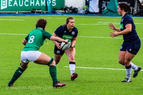 Scotland on the attack against Ireland. Photo: Stephen Kisbey-Green