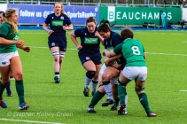 The opening round 6 Nations clash between Ireland and Scotland was full of massive collisions. Photo: Stephen Kisbey-Green