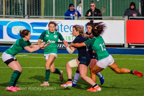 Scotland are tracked down after a brilliant break. Photo: Stephen Kisbey-Green