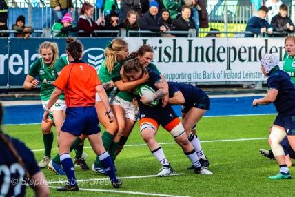 Scotland bash their way closer to Ireland's tryline. Photo: Stephen Kisbey-Green