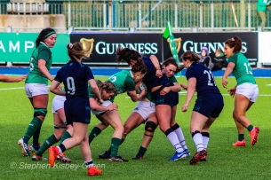 Scotland are stopped by some strong Irish defense. Photo: Stephen Kisbey-Green