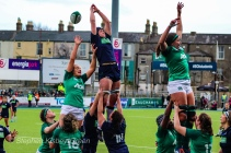 Lineout time for Ireland and Scotland. Photo: Stephen Kisbey-Green